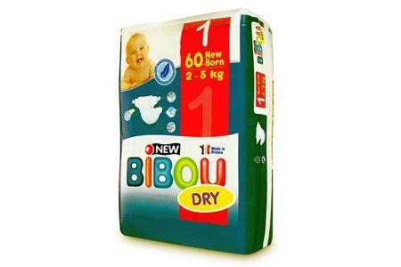 Carton de 3 x 60 changes pour bébés BIBOU N.1 - 2-5 Kg