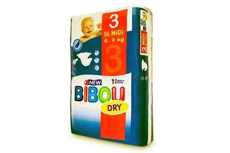 Carton de 3 x 56 changes pour bébés BIBOU N.3 - 4-9 Kg