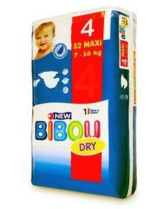 Carton de 3 x 52 changes pour bébés BIBOU N.4 - 7-18 Kg