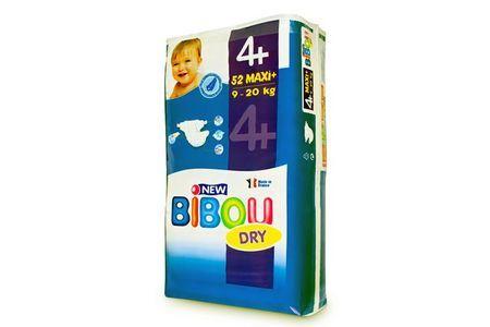 Carton de 3 x 52 changes pour bébés BIBOU N.4+  - 9-20 Kg