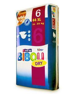 Carton de 3 x 44 changes pour bébés BIBOU N.6  - 16-30 Kg