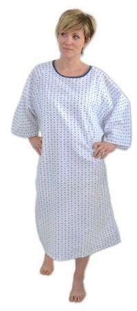 Chemise de convalescence, bleue