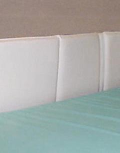 Protections de barrières de lit en mousse et PVC - paire