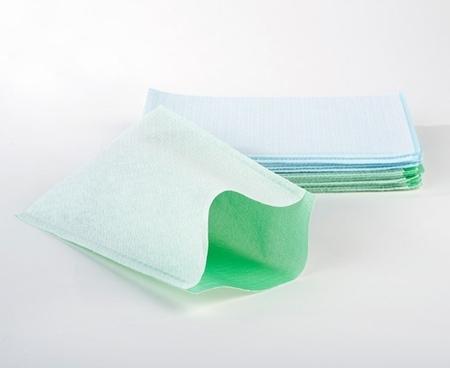 Gants de toilette jetables non tissés plastifiés 50 gr/m2 (carton de 20 x 50 gants)