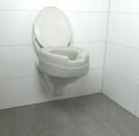 Rehausse-wc en mousse injectée avec couvercle - hauteur 11 cm