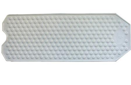 Tapis de bain avec ventouses 100 x 40 cm - beige