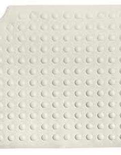 Tapis de douche avec ventouses 54 x 55 cm - blanc