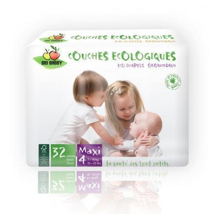 Carton de 6 x 32 changes bébés BIO BABBY - Maxi 7-16 kg
