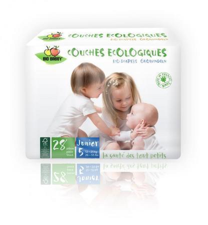 Carton de 6 x 28 changes bébés BIO BABBY - Junior 15-25 kg
