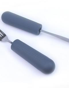 Manches grip pour couverts, brosse à dents, ... - modèle enfants (2 pces)