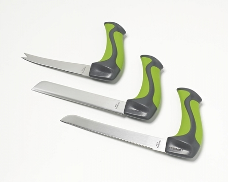 Couteaux de cuisine avec poignée en angle