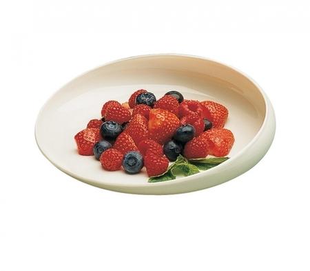 Assiette Gripware asymétrique en plastique