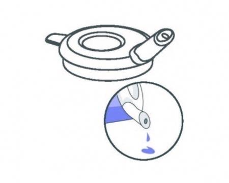 Couvercle avec embout anti-goutte 5 mm