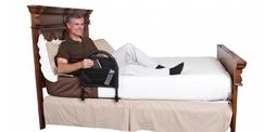 Barre d'appui de lit rabattable
