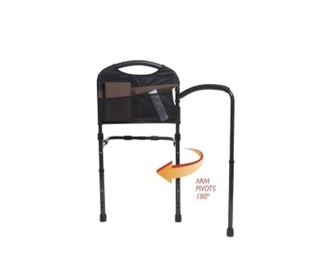 Barre de lit avec barre d'appui pivotante