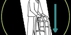 Cadre de marche innovant avec petites roues GLYDESAFE Mobio®