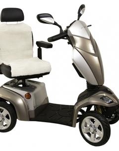 Assise + dossier en peau de mouton pour fauteuil roulant ou scooter