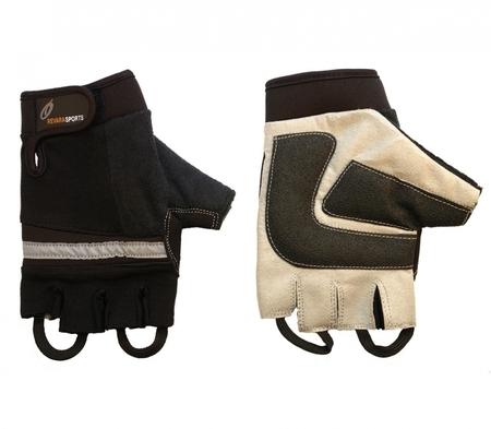 Mitaines pour utilisateur de fauteuil roulant - cuir et daim