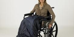 Protection de jambes Deluxe (doublée) pour utilisateur de chaise roulante