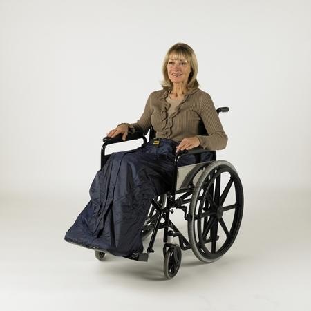 Chancelière de jambe pour utilisateur de chaise roulante