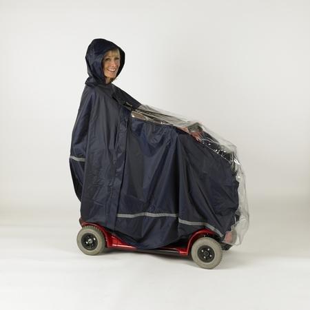 Cape pour scooter et son utilisateur