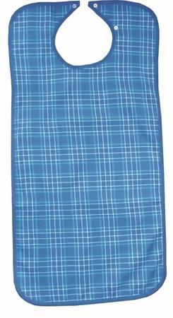 Bavoir écossais - fermeture pressions - 45 x 90 cm