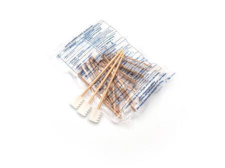 Bâtonnets des soins de bouche dentelés en mousse - 20 pces