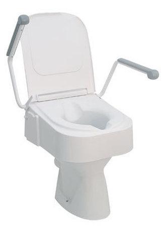 Rehausse WC avec accoudoirs et couvercle