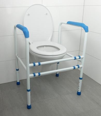 Cadre de toilette réglable - époxé blanc