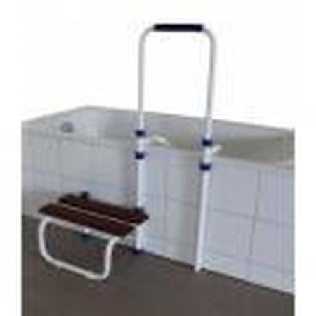 Marche-pied avec barre d'accès réglable pour baignoire