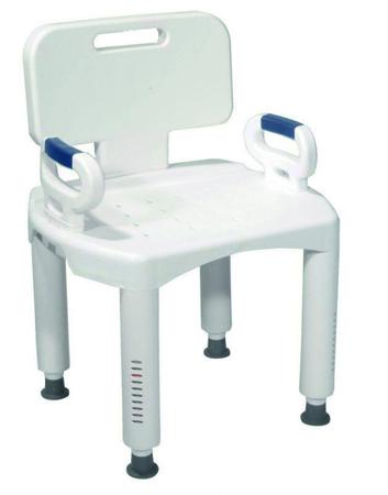 Chaise de douche compacte et originale avec accoudoirs et dossier - réglable en hauteur