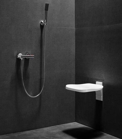 Siège mural de douche rabattable - Blanc